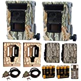 2x Browning DEFENDER 940 Wifi and Bluetooth Trail Game Camera (20MP) | BTC10D | Full Wildlife Observation Kit