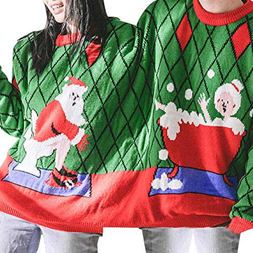 HGWXX7 Two Person Sweater Unisex Couples Pullover Novelty for sale  Delivered anywhere in USA