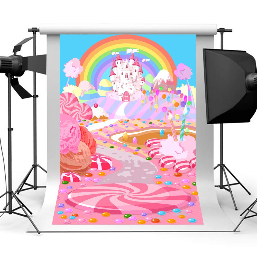 Christmas Candyland Backdrop.Aisnyho Candyland Backdrop Fairytale Candy World Photo Background Sweet Cartoon Backdrops For Photography Birthday Party Studio Children Lollipop