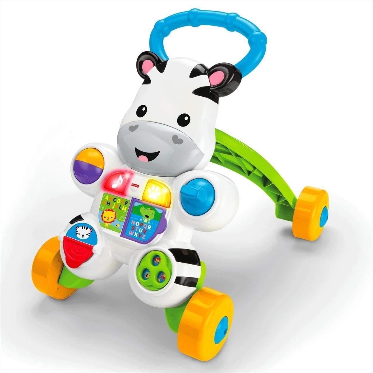 Fisher Price Cebra Parlanchina Primeros pasos, correpasillos bebés 6 meses (Mattel DLD80)