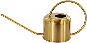 Peonyfun Long Spout Watering Can, Metal Watering Can Indoor Outdoor, Cute Watering Can for Flower Plant Bonsai, Copper Colored Watering Can, 40 oz