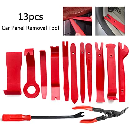 Car Door Panel Removal Tool,Car Trim Removal Tool for Dash Center Console Audio Radio Removal Installation And Remover 13pcs