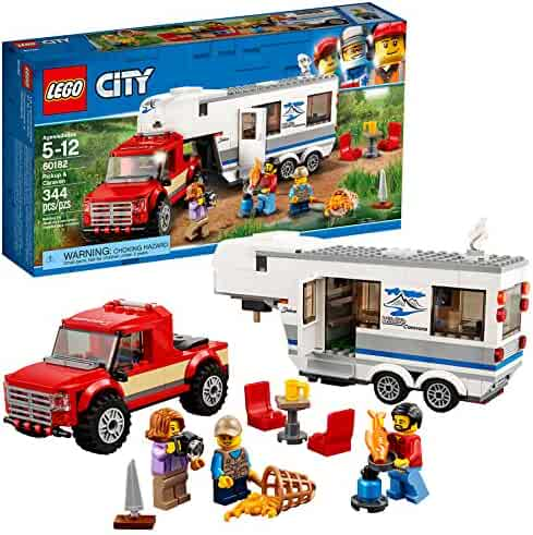 LEGO City Great Vehicles Pickup & Caravan 60182 Building Kit (344 Piece)