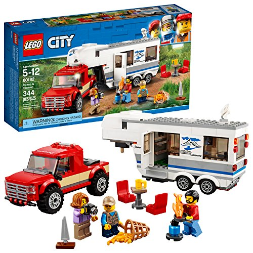 LEGO City Pickup & Caravan 60182 Building Kit (344 - Camping Model Accessories