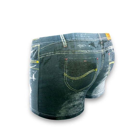 Amazon.com: 2 piezas hombres ropa interior 3d vaquero hombre ...