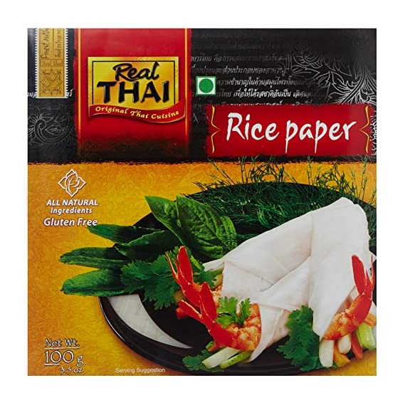 Real Thai Rice Paper - Round (22 cm), 100g Pack
