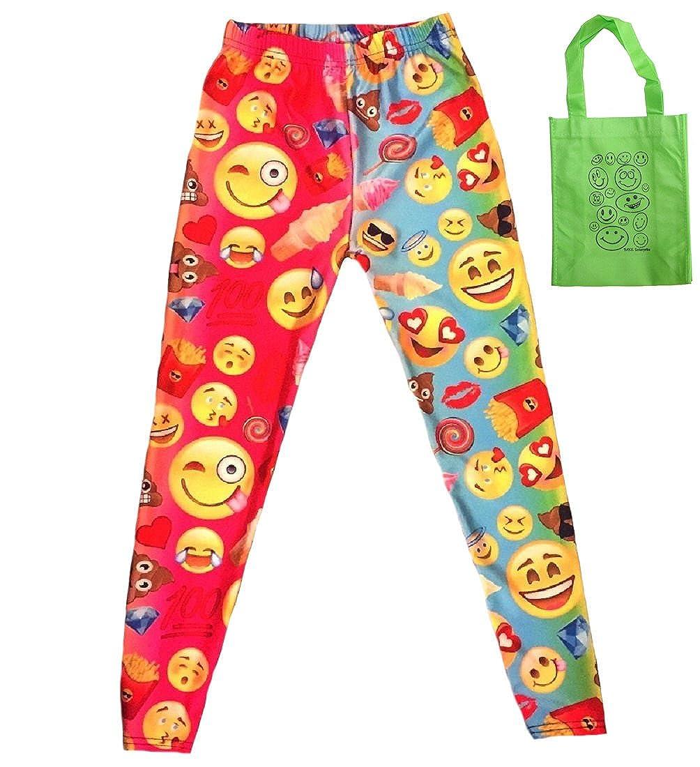 Emoji Faces /& Treats Little Girls Leggings /& Tote 2 Item Multi-Pack