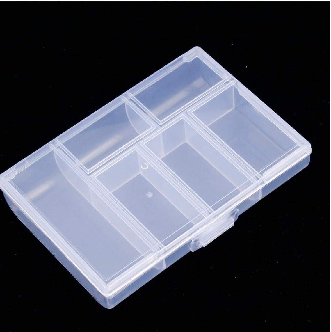 Oulensy 1PC Mini joyería Organizador Caja de plástico Transparente Caja de la píldora de la Moneda de la joyería Caja de Almacenamiento de contenedores para la casa