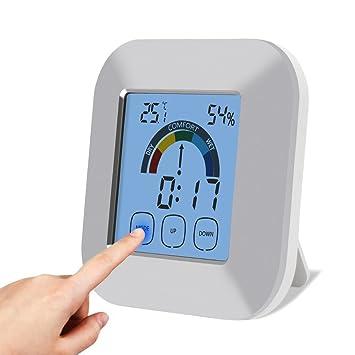 Digital Termómetro y higrómetro: para casa y oficina Cuchillo Temperatura y Humedad supervisión + función