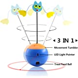 Cat juguetes interactivos, luz LED puntero, gatos vaso Puzzle Crazy Fun Food fuga Bola Pet arañazos Herramienta de formación, por aootech
