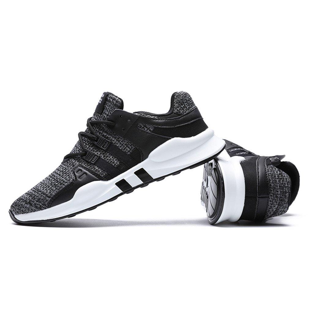 ZIITOP Sportschuhe Herren Laufschuhe Leichtgewicht Gym Turnschuhe Freizeit Atmungsaktiv Schnürer Sneaker Fitnessschuhe(EU 39-46) (42 EU, Grau)