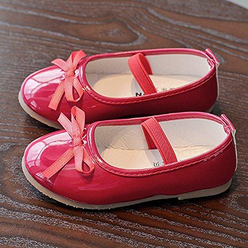 Casuale Eleganti Danza Bambina Ballerina Ragazze Rosso Pelle Da Scarpe Sneaker Principessa Topgrowth bYIyv6f7g