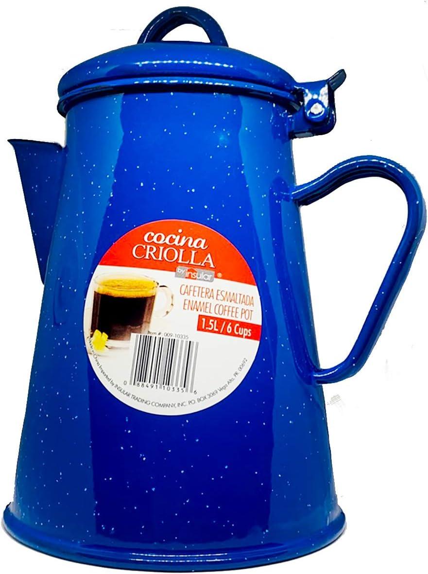Amazon.com: Cocina Criolla Enamel Percolator Coffee Pot - 6 ...