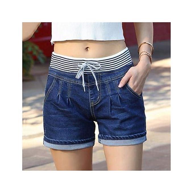 Amazon.com: 2019 Pantalones cortos de algodón para mujer ...