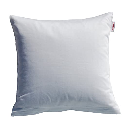 5feba99520 beties Mako Satin Kissenbezug 80 x 80 cm in 9 eleganten Uni Farben Weiß 1  Stück