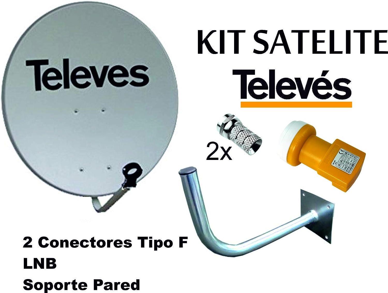 KIT SATELITE TELEVES ASTRA CON DISCO DE PARABOLICA DE 60cm + ...