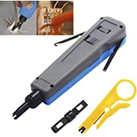 Aveson - Herramienta profesional de perforación con 110/88 y 66 cuchillas, cable de red para Telecom y terminal de…