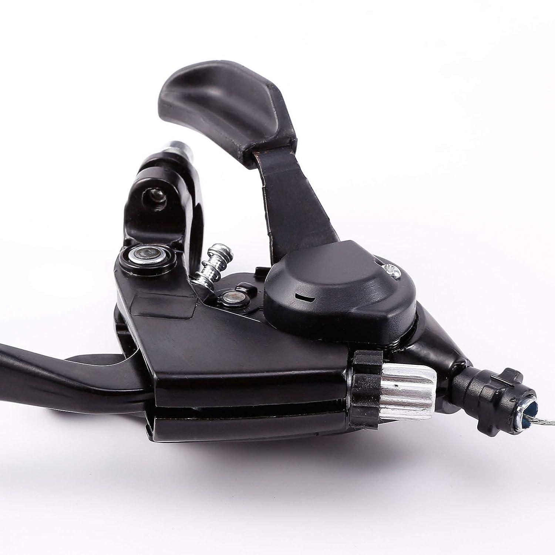 7//8 vitesses Jeu de leviers de vitesse avec c/âble de frein Pour v/élo de route et VTT Levier de frein