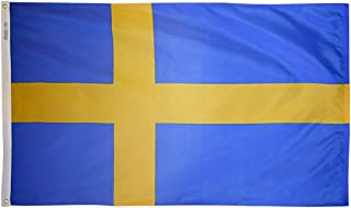 product image for Annin Flagmakers Model 197988 Sweden Flag Nylon SolarGuard NYL-Glo, 4x6 ft, 100% Made in USA to Official United Nations Design Specifications