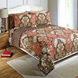 Better Homes and Gardens Quilt Collection, Jeweled Damask Twin Size Bedding Quilt