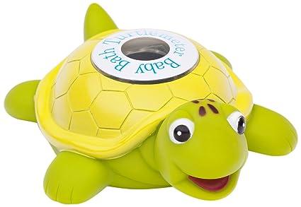 Ozeri Turtlemeter- tortuga flotante de juguete para el baño del bebé y el termómetro de
