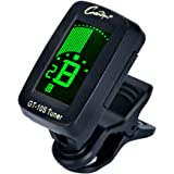 Guitar Tuner Digital Clip-On Tuner for Acoustic Electric Chromatic Bass Violin Guitars Ukulele Large Clear Colorful LCD Display 360 Degree Rotating Auto Power Off Battery Included