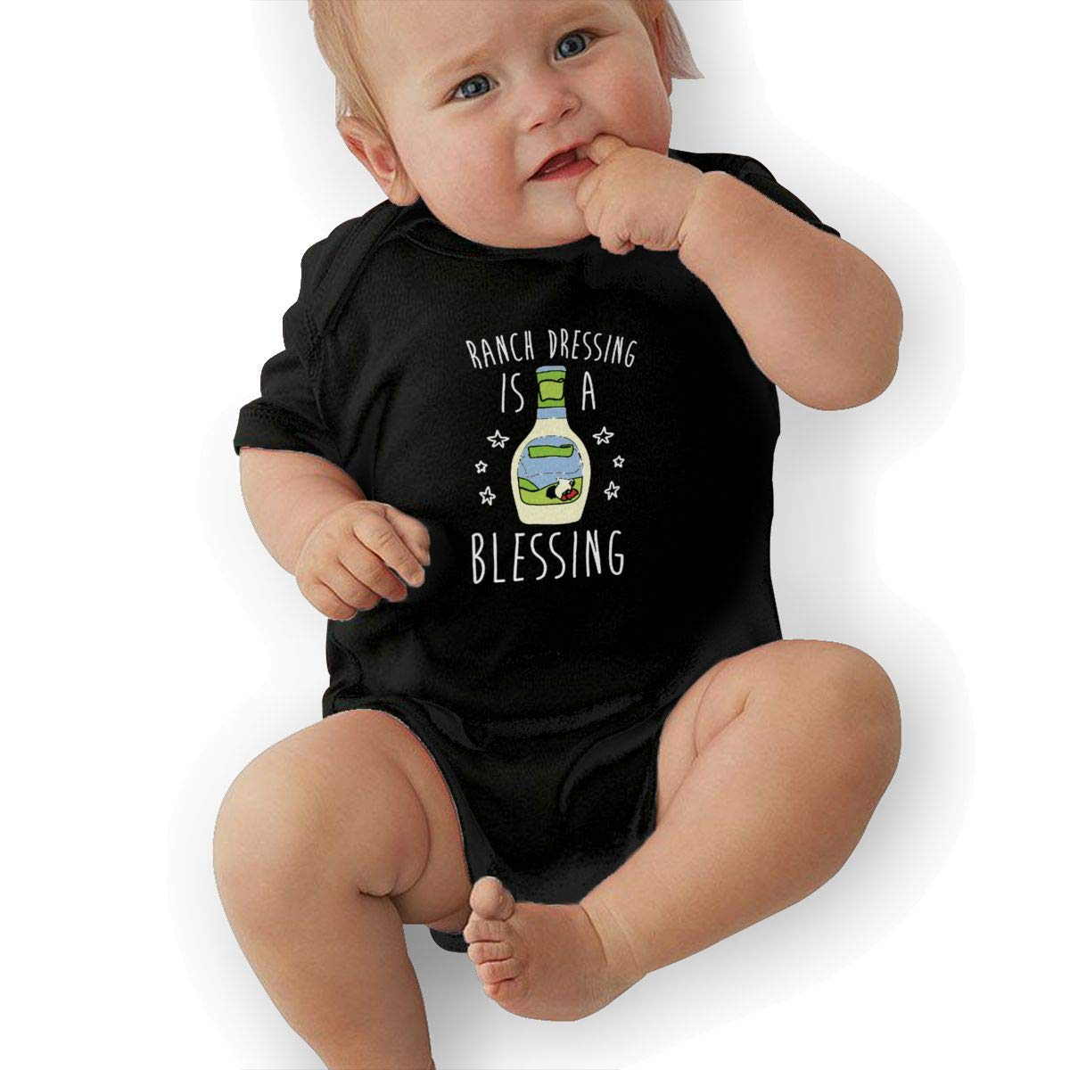 LANBRELLA Ranch Dressing is A Blessing Infant Cotton Short Sleeve Baby Rompers Bodysuits