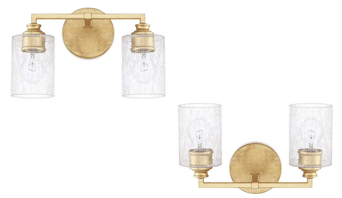 Capital Lighting 120521CG-422 Two Vanity Light – 2 Pack