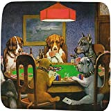 Dogs Playing Poker 1903 C.M.Coolidge Memory Foam Bath Mat - 48''x48''