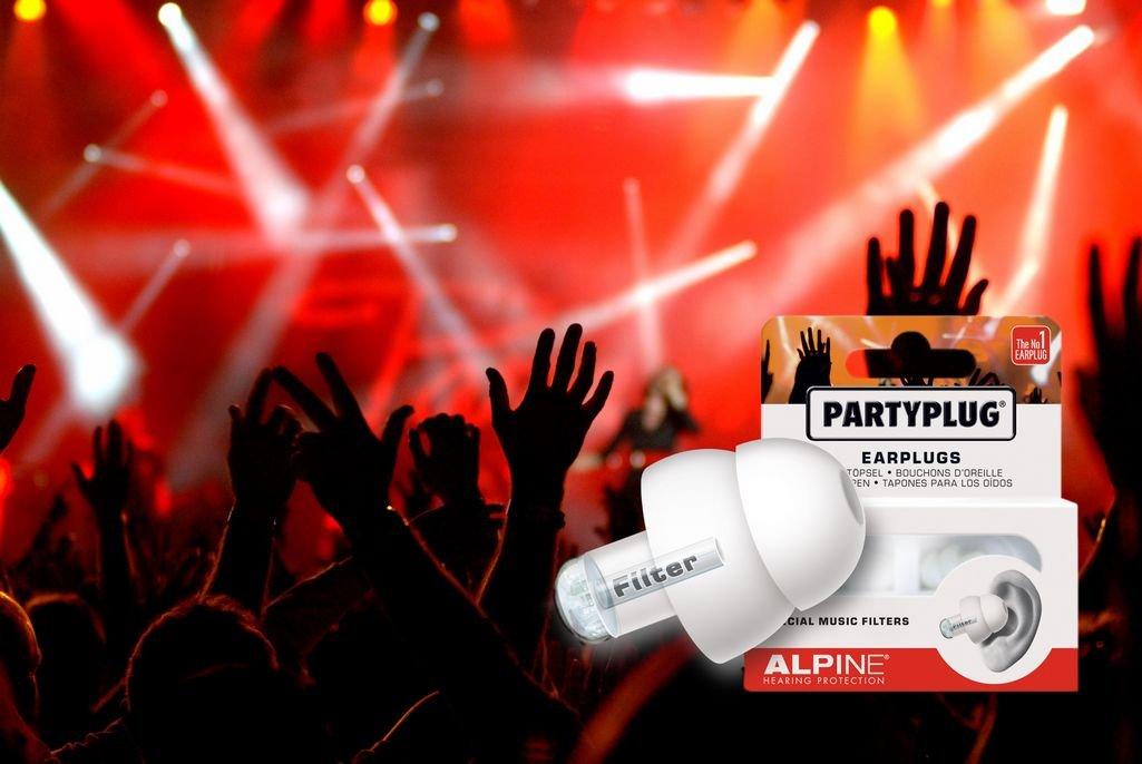 Alpine PartyPlug Bouchons dOreilles pour Concerts et Sorties Noir