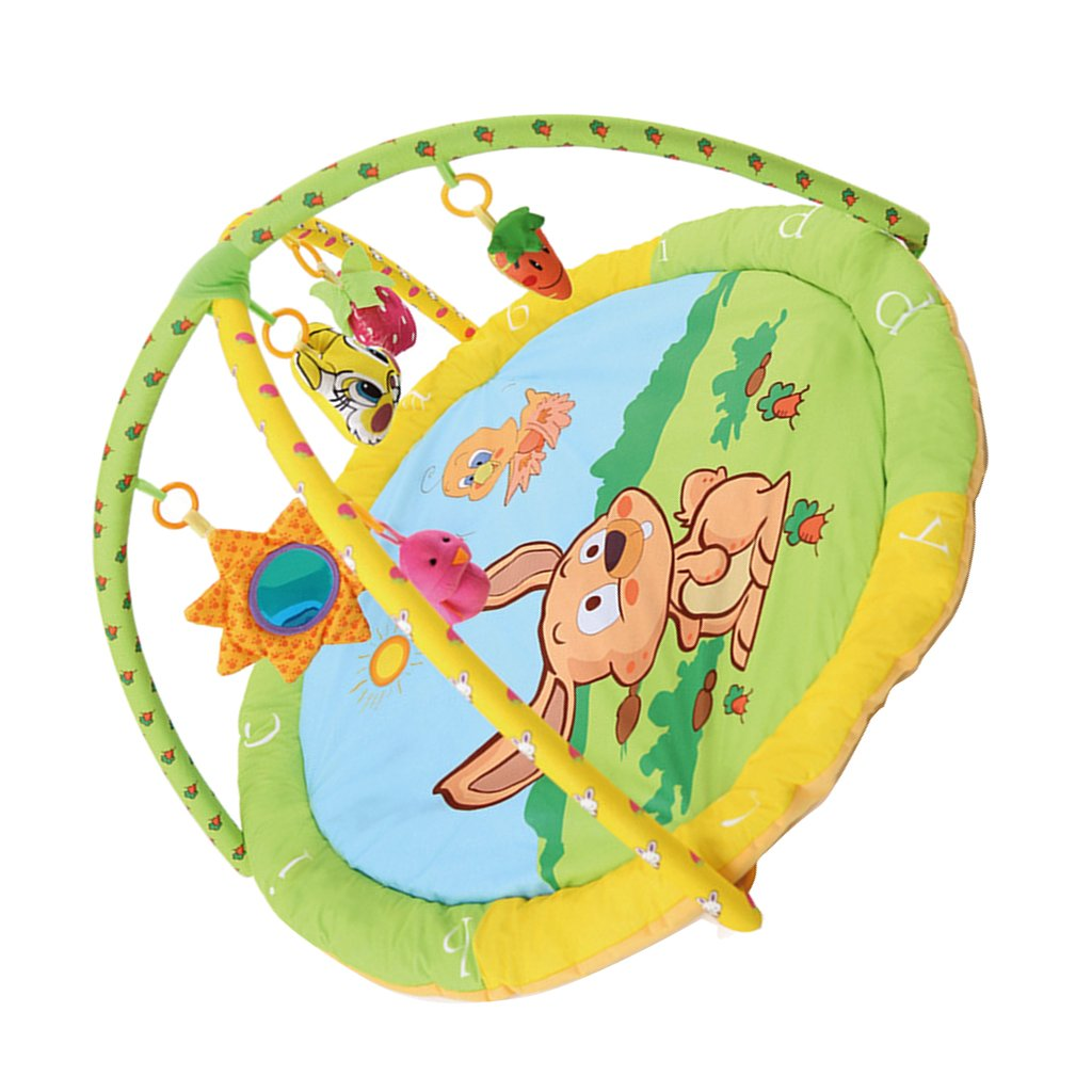 Rabbit Prettyia Baby Activity Gym Play Mat Soft Pad Lay Cotton Fun Toys Bed Walking Learning  Rabbit, as described