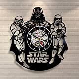Star Wars Darth Vader Stormtrooper Vinyl Record Clock Home Design Room Art Decor Handmade Vintage Review