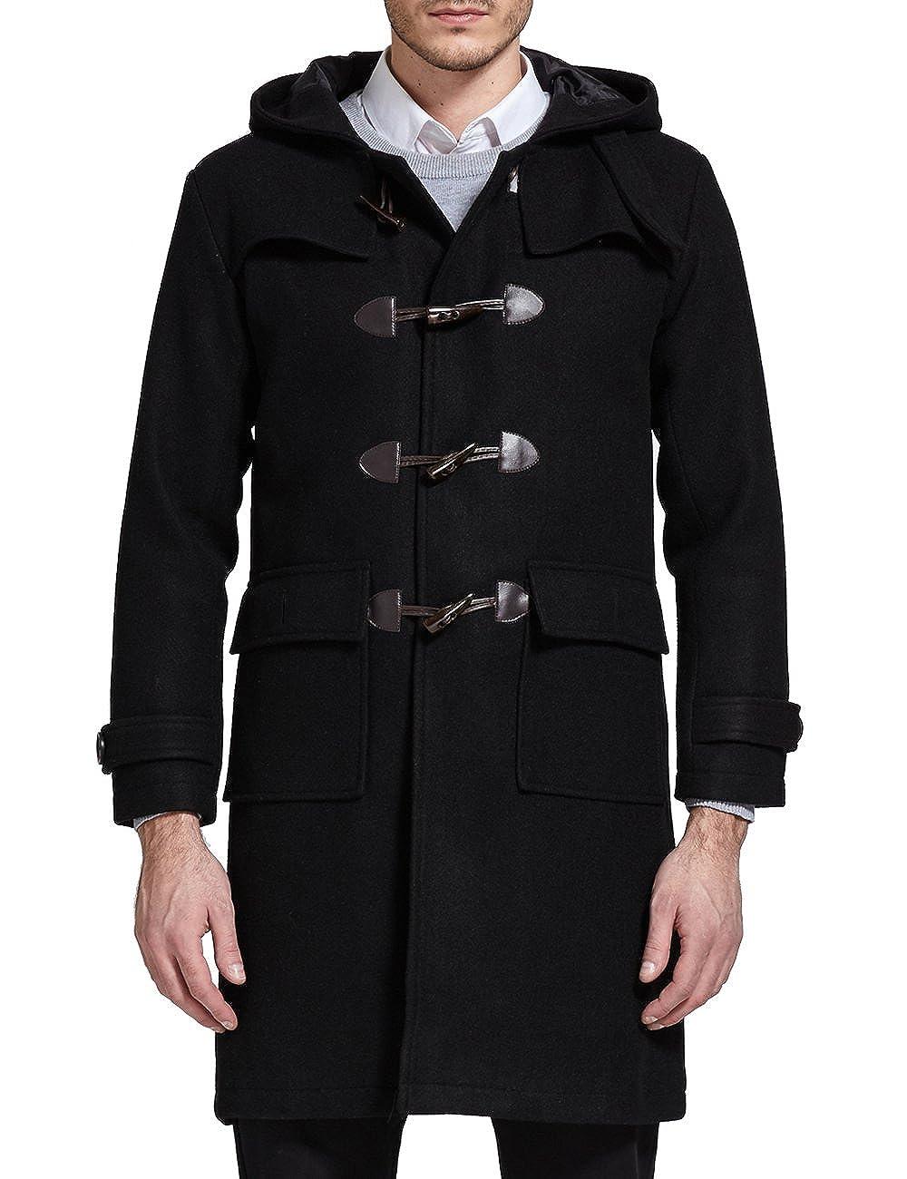 SSLR Men's Woolen Blend Hooded Toggle Coat SN-W18-M-905
