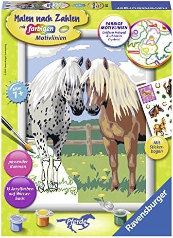 Ravensburger Malen nach Zahlen 28566 - Glückliche Pferde