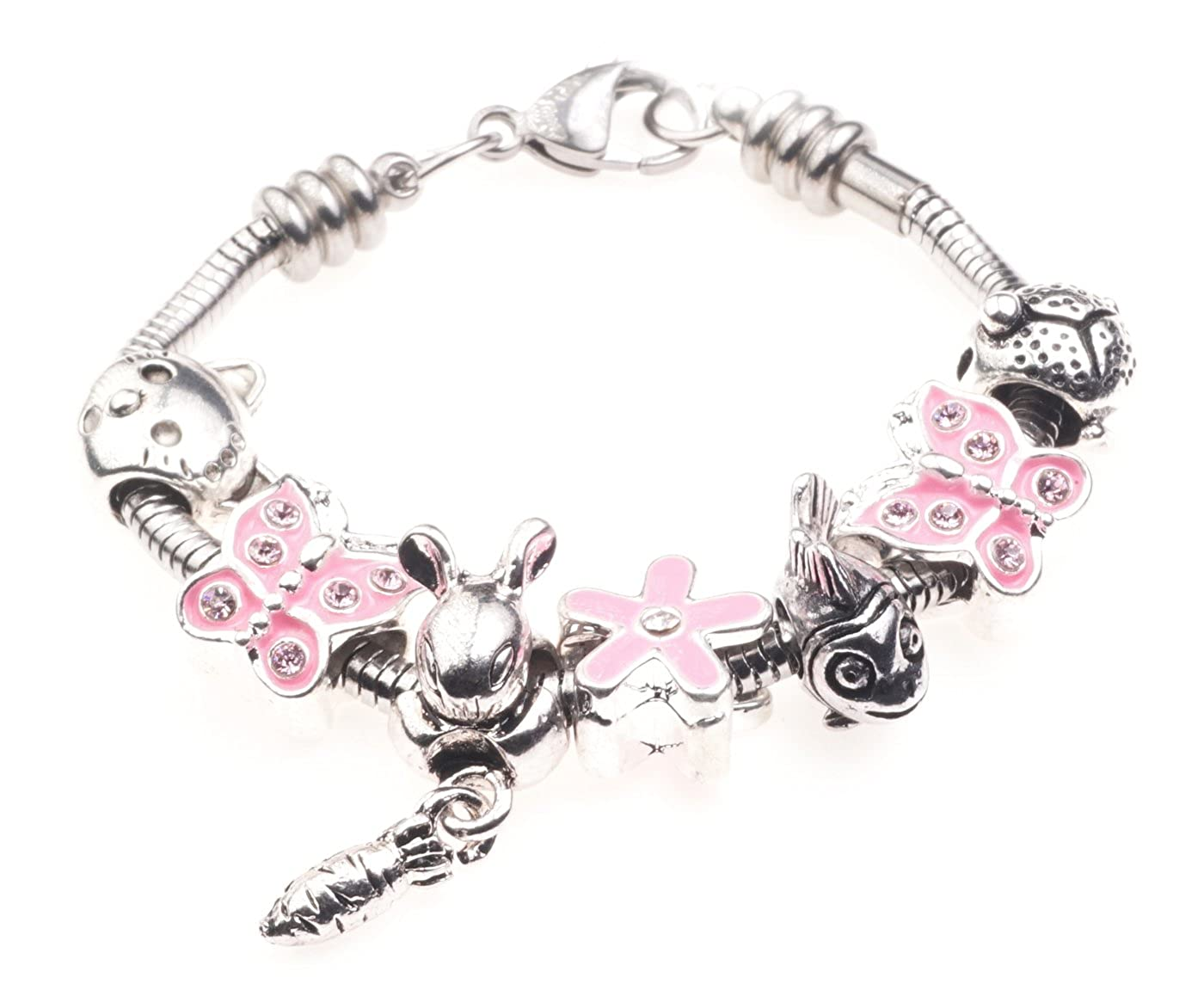 'I Love My Pets' Animal Themed Childrens Charm Bracelet with Gift Box Girls Jewellery Jewellery Hut BRkidsPets