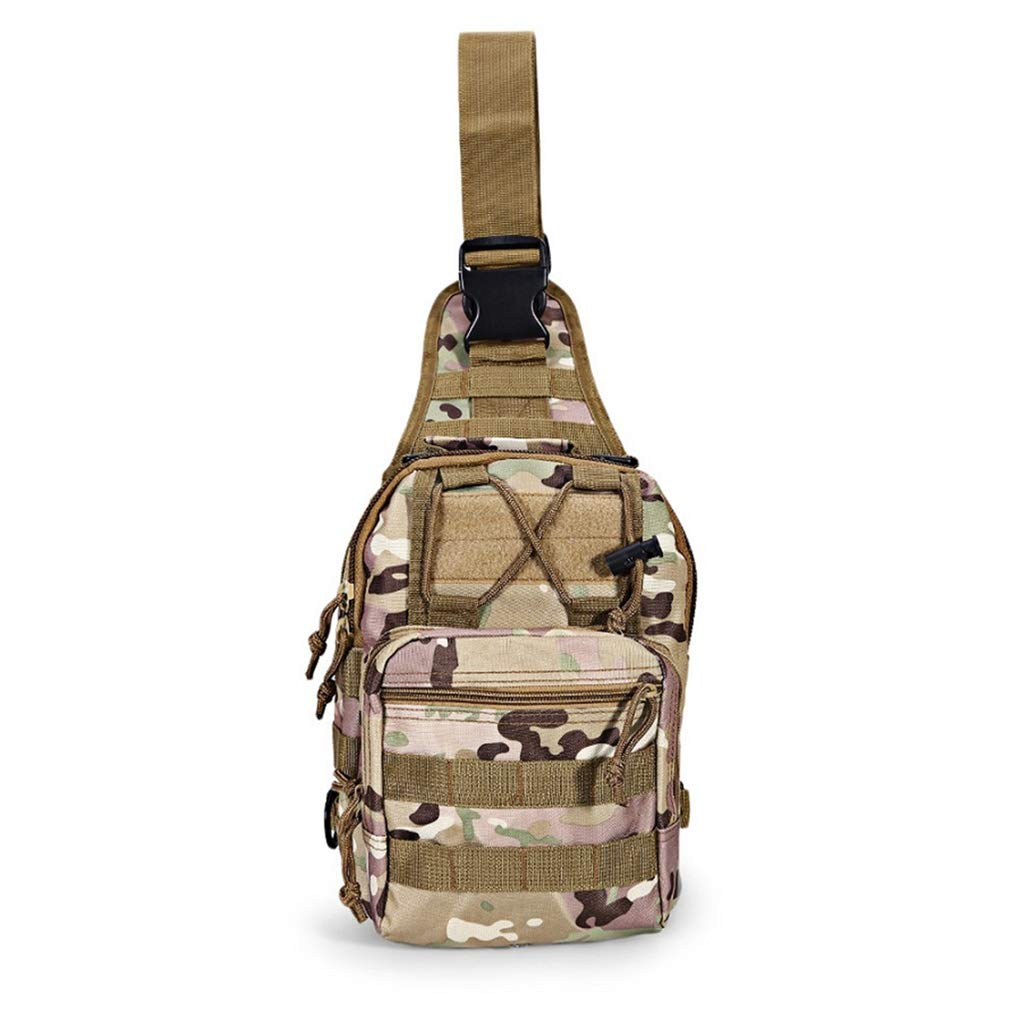 KKONION ミリタリーハイキングショルダーバッグ タクティカルチェストパック ユーティリティポータブルキャンピングトレッキングバッグ B07KYMPP58 NO6