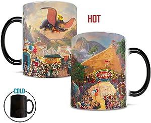 Morphing Mugs Thomas Kinkade Disney's Dumbo the Flying Elephant Circus Painting Heat Reveal Ceramic Coffee Mug - 11 Ounces
