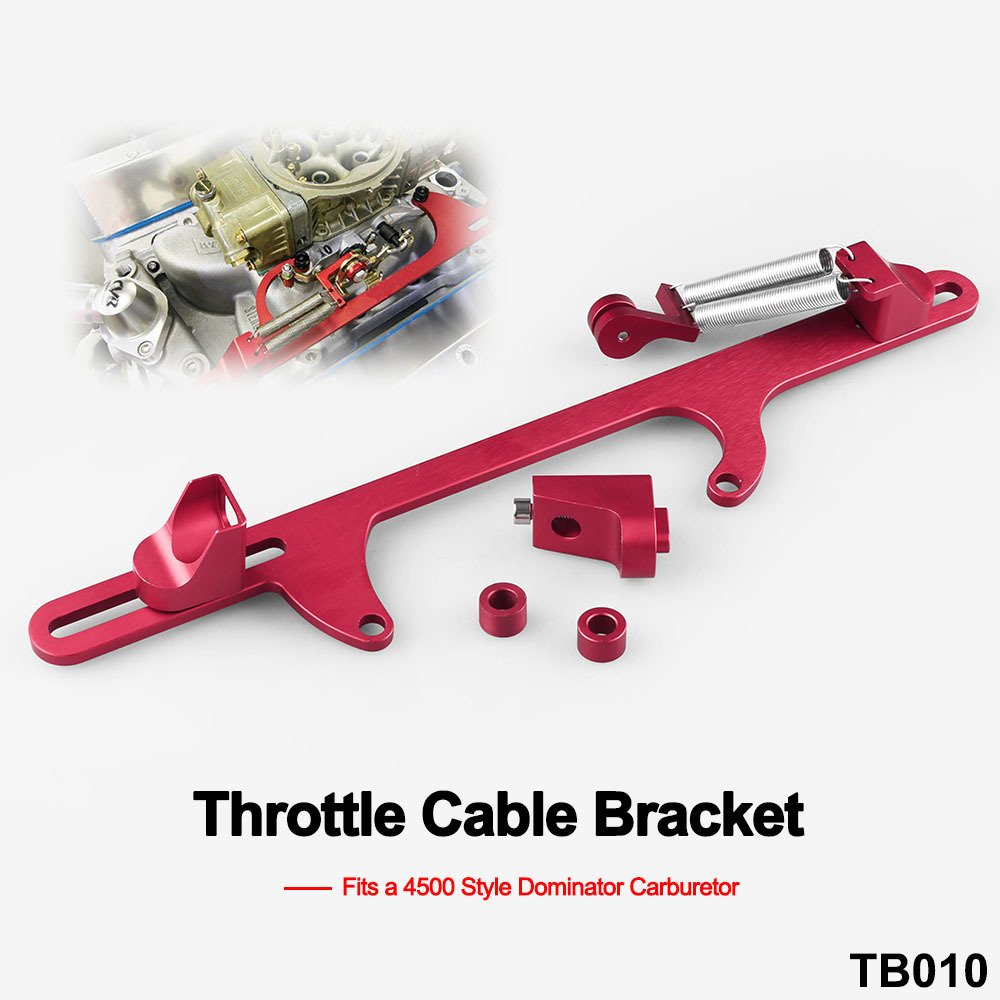 Ruien Billet Aluminum Throttle Cable Bracket For 4500 Style Series Carburetor Red