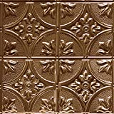 Shanko CO309DA Pattern 309 Authentic Pressed Metal Wall and Ceiling Tiles, 20 sq. ft., Copper