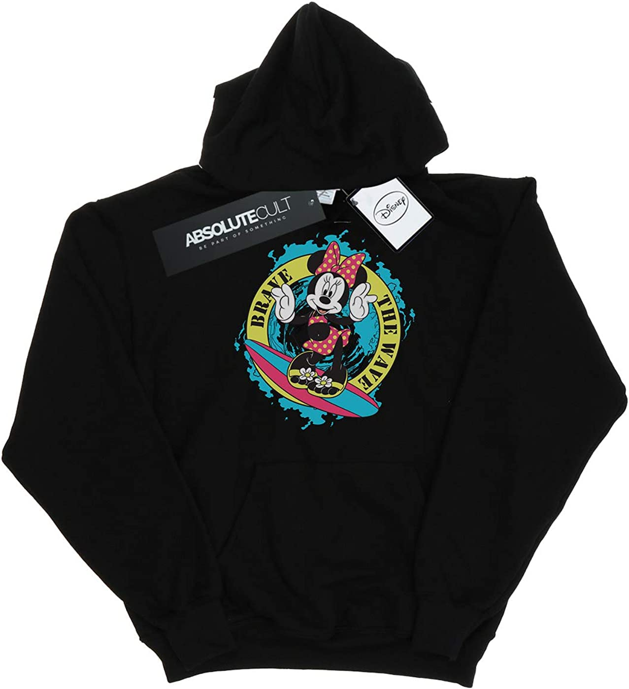 Disney Girls Minnie Mouse Brave The Wave Hoodie