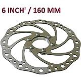 Bridge2Shopping Disc Brake Rotor, Bicycle Disk Brake Plate, 6 Inch', 160 MM
