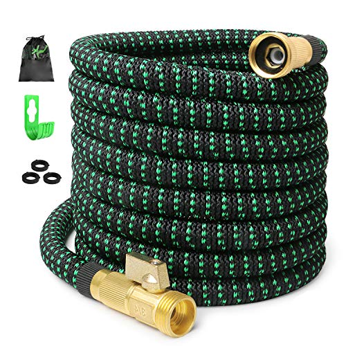 75ft Expandable Garden Hose Expanding Water Hose with 100% Solid Brass Valve, Flexible Outdoor Hose can 3x Expandable, 75'' Lightweight Gardening Yard Hoses No Kink Cloth Car Wash Hose (2019 Newest) by INAYAHOSE