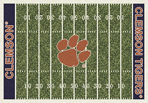 NCAA Home Field Rug - Clemson Tigers, 7'8'' x 10'9'' by Millilken