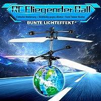 Innoo Tech RC Fliegender Ball, Fliegendes Spielzeug, Flying Ball, Infrarot-Induktions-Hubschrauber, RC Spielzeug Drohne mit LED Leuchtung, Discokugel Flugzeug, Tolles Geschenke für Kinder