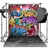 ANVOT Photography Backdrop, 5x7 ft Hip Hop Graffiti Style Backdrop For Studio Props Photo Backdrop