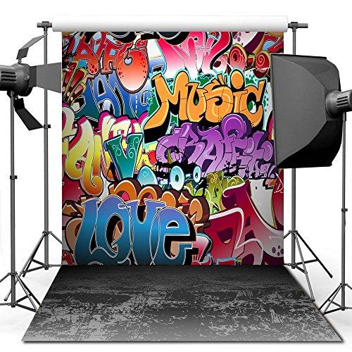 econious Photography Backdrop, 5x7 ft Hip Hop Graffiti Style Backdrop for Studio Props Photo Backdrop