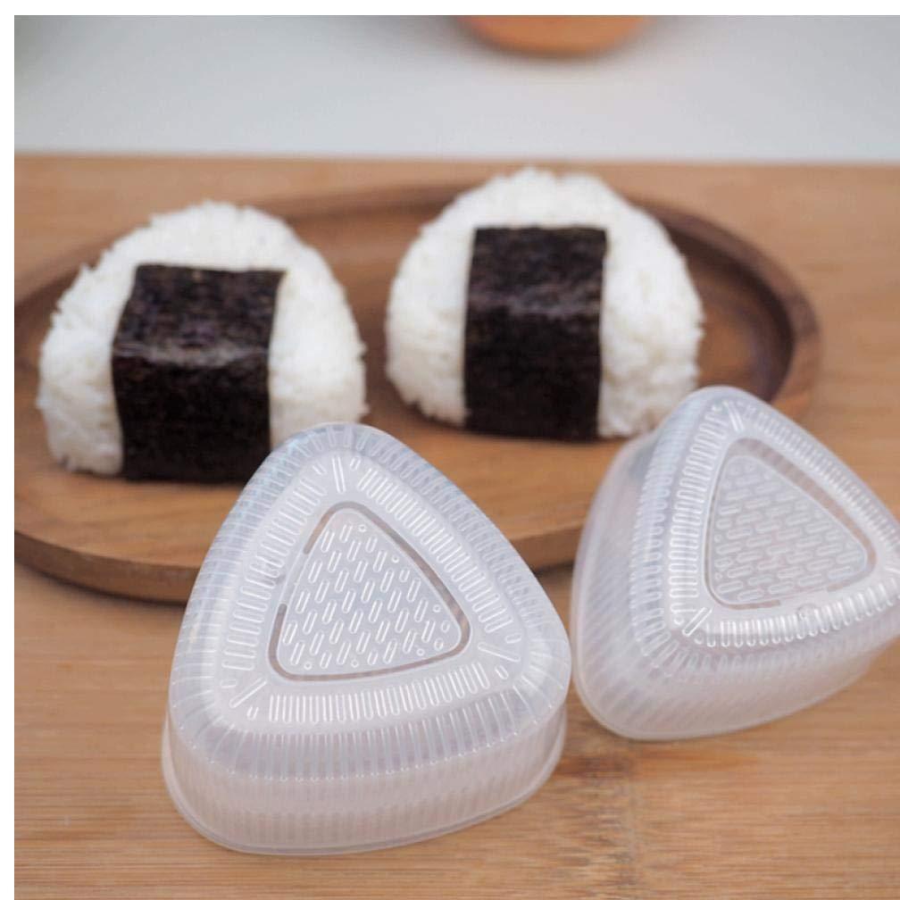 Oulensy 2 Coppia Trasparente Pratica Cucina Bento Sushi Decorazione Onigiri stampi Alimentari Press Triangolare Modulo Rice creatore della Sfera Accessori