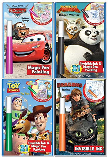 Disney's Characters Magic Pen Painting Activity Books, Set f