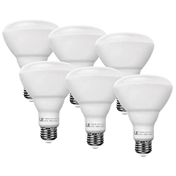 Le 6 pack 75w incandescent equivalent 15w dimmable br30 e26 led le 6 pack 75w incandescent equivalent 15w dimmable br30 e26 led bulbs recessed can aloadofball Image collections