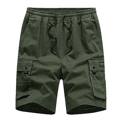 Botones para Hombres AlgodóN Multibolsillos Monos Pantalones ...